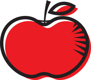 Red Apple Clipart Design