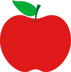 Red Apple Design Vector