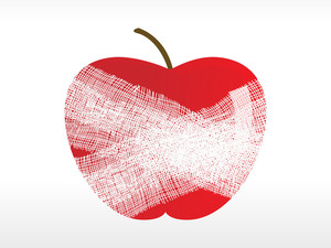 Red Apple With Plaster