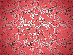 Red Artistic Flower Design Background