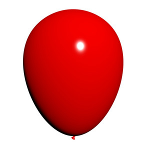 Red Balloon On White Background Has Copyspace For Party Invitation