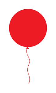 Red Balloon Shape