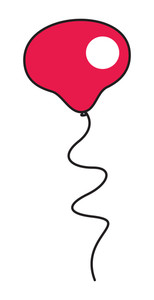 Red Balloon Vector Design