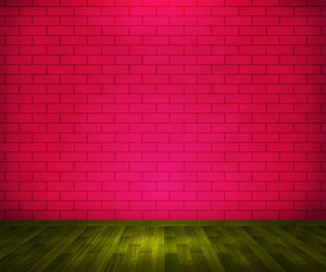 Red Brick Room Background