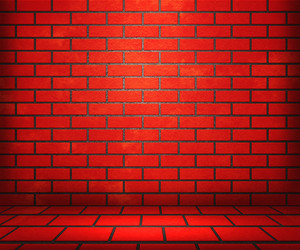 Red Brick Stage Background