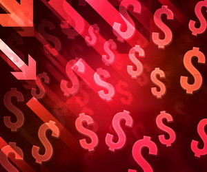 Red Business Finance Crisis Background