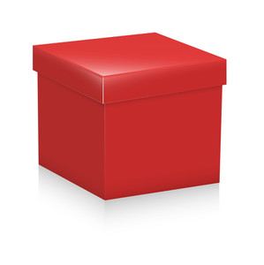 Red Cardboard Box