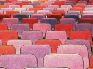 Red Cinema Or Theater Empty Seats