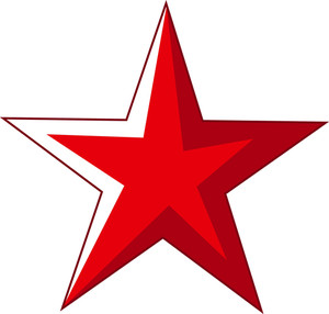 Red Comic Star Vector