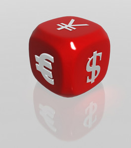 Red Currency Symbols Dice
