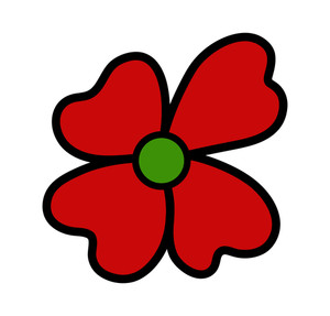 Red Daisy Clipart
