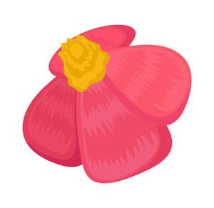 Red Daisy Vector Art