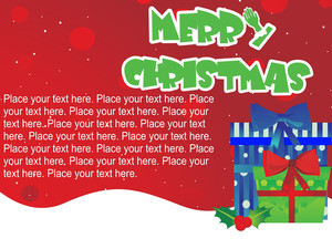 Red Dotted Background With Colorful Gift Box