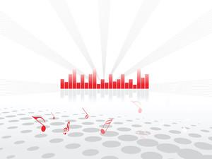 Red Equalizer Bar Vector