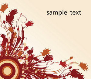 Red-floral-background