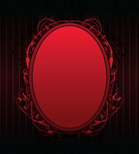 Red Floral Frame Vector Illustration