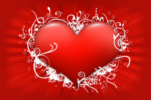 Red Floral Heart