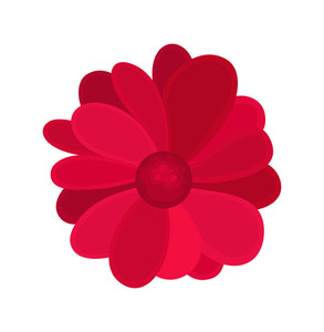 Red Flower Abstract Design
