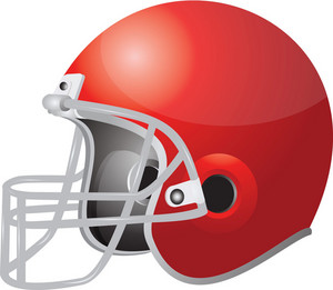 Red Football Helmets