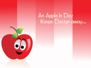 Red Funny Apple
