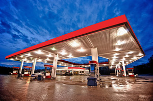 Red Gasoline Station