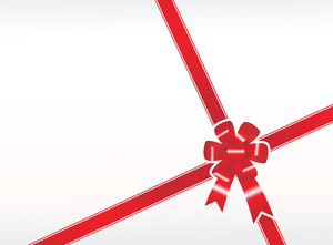 Red Gift Bow Wallpaper