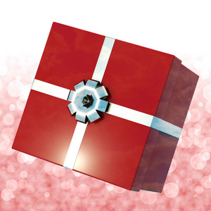 Red Giftbox With Bokeh Background For Girls Birthday