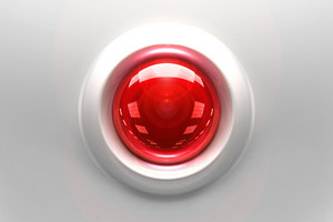 Red Glassy Button