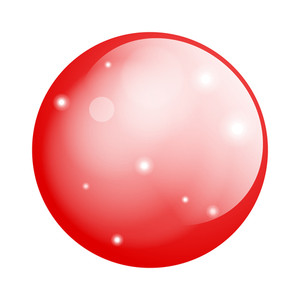 Red Glossy Circle Balloon