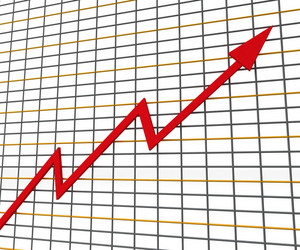 Red Graph Shows Profit Line