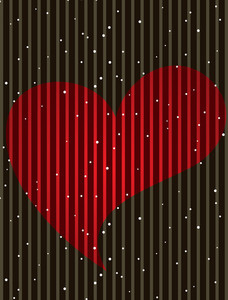 Red  Heart And Space For Text On Brown Color Background  For Valentine Day.