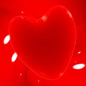 Red Heart On A Glowing Background Showing Love Romance And Valentines Day