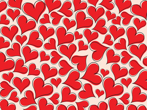 Red Heart Pattern Wallpaper