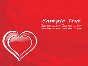 Red Heart Shape Valentine Card