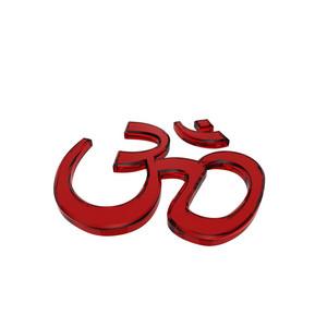 Red Hinduism Symbol.