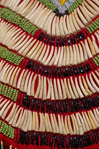 Red Indian Costume Beads Background