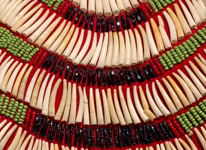 Red Indian Costume Beads