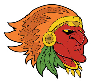 Red Indian Tattoo Vector