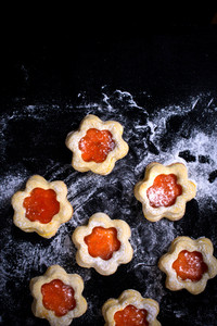 Red Jam Cookies