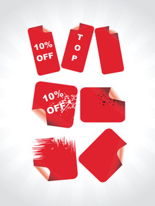 Red Labels For Special Discount Sale