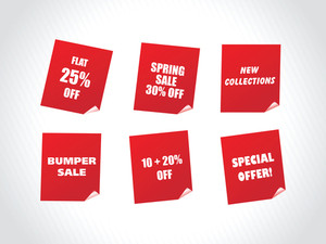 Red Labels For Spring Discount Sale