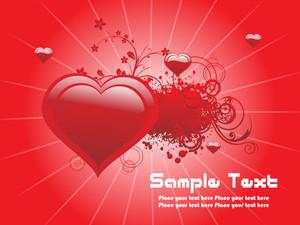 Red Love Design Background