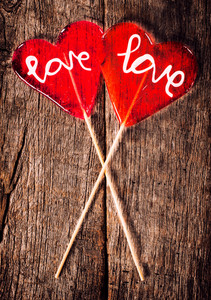 Red Love Lollipops