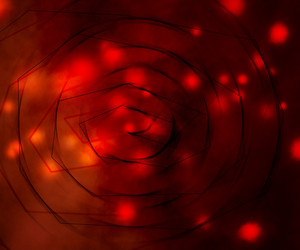 Red Magical Background