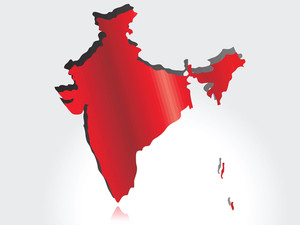 Red Map Showing Sacrifies Of Indian