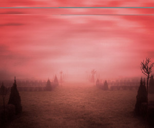Red Misty Background