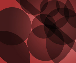 Red Modern Circles Background
