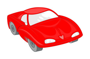 Red Modern Sports Car