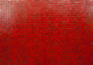red mosaic tiles wallpaper