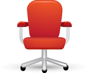 Red Office Chair Lite Art Icon
